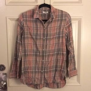 Madewell plaid flannel button down shirt